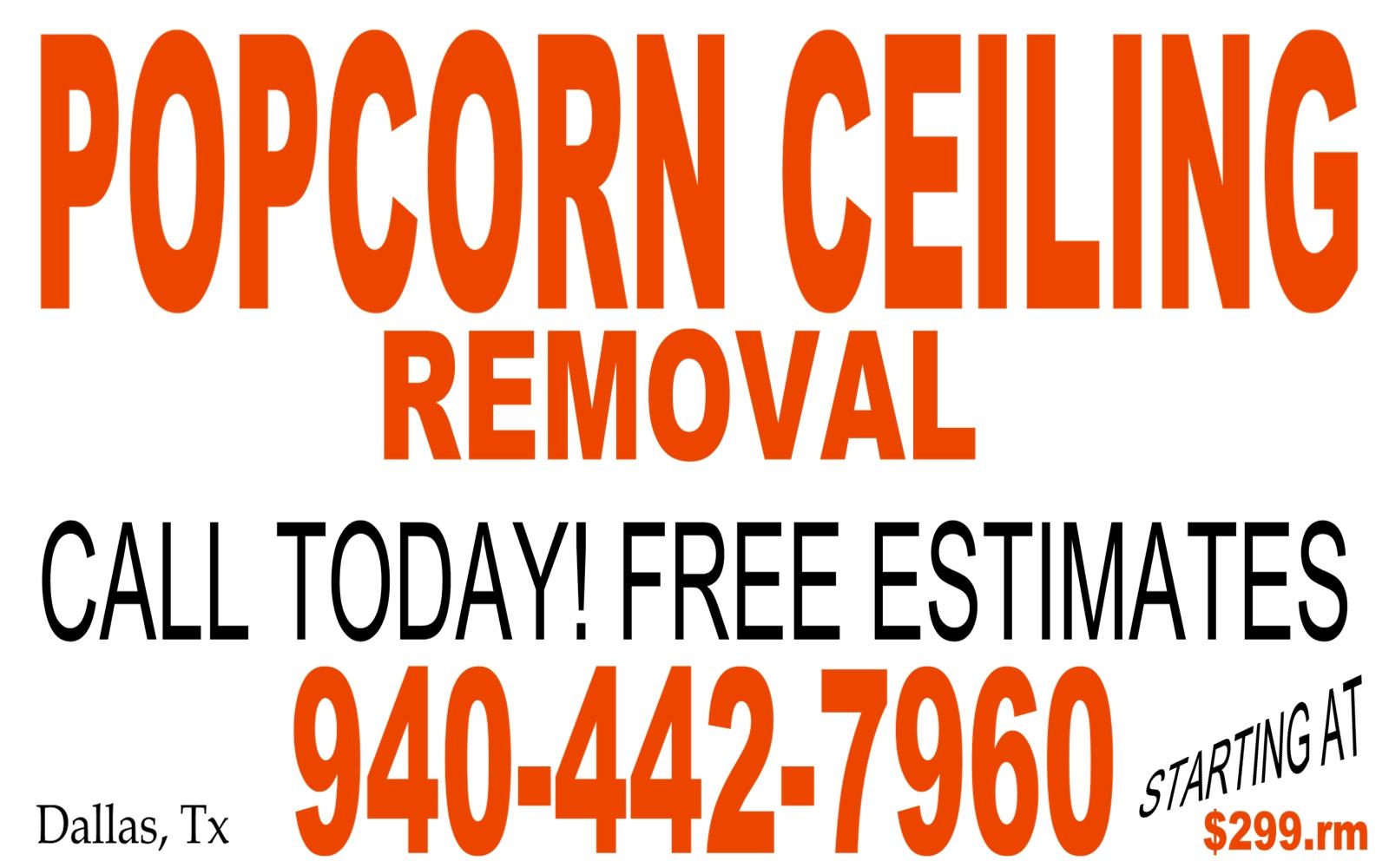Popcorn Removal